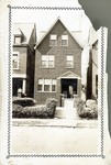 Black and white photograph of Gaines family home; 3932 West Belle Place, St. Louis, MO